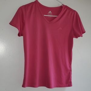 Dark Bubblegum Pink - •Adidas•   Athletic Tee
